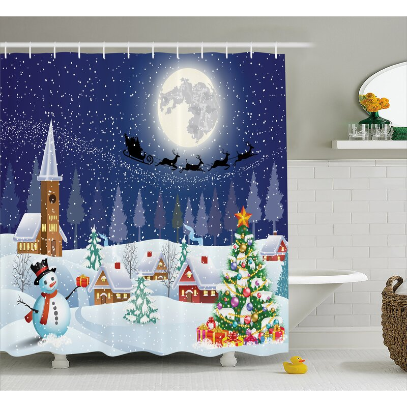 Christmas Winter Landscape Shower Curtain