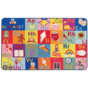 Playtime Reversible Alphabet/Numbers Red/Yellow/Blue Rug by Longweave