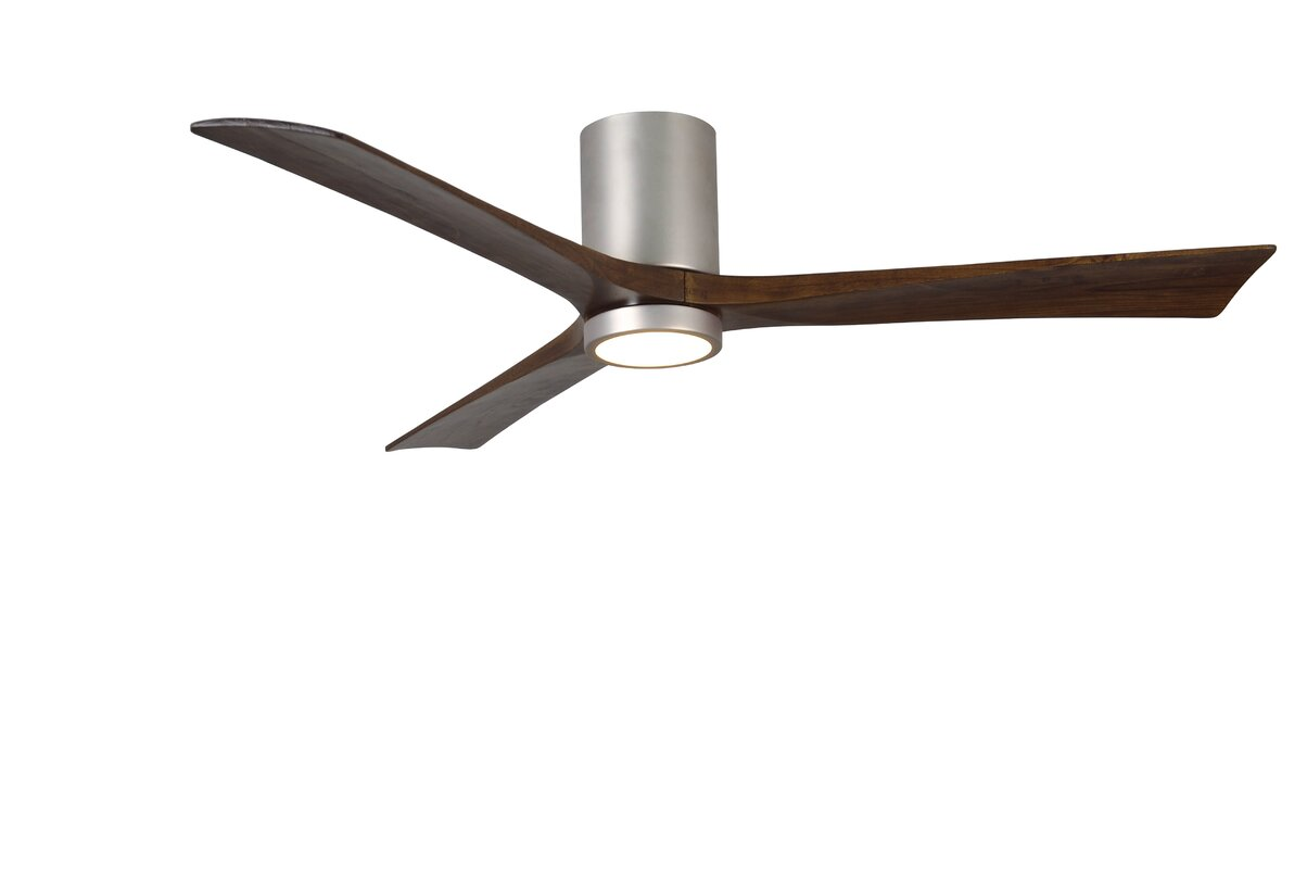 wade logan 60 rosalind 3 blade hugger ceiling fan with wall remote and light kit reviews. Black Bedroom Furniture Sets. Home Design Ideas