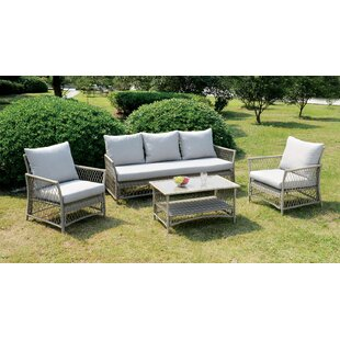 Vera 4 Piece Sofa Set With Cushions