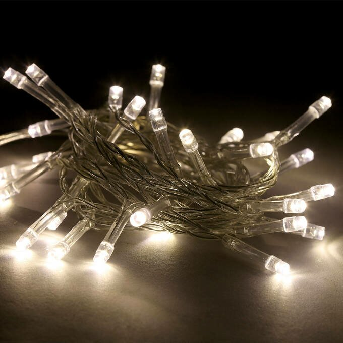 Battery Operated With Timer 30 Led String Lights