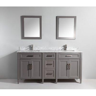 "Bathroom Vanities Sacramento vanity art 72"" double bathroom vanity set with mirror & reviews"