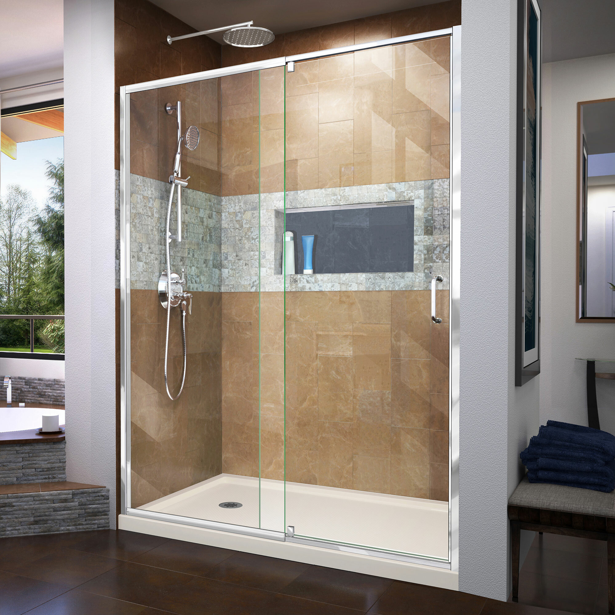 Dreamline Dreamline Flex 60 X 7475 Pivot Semi Frameless Shower