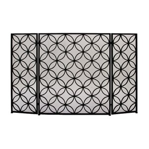 3 Panel Metal Fireplace Screen