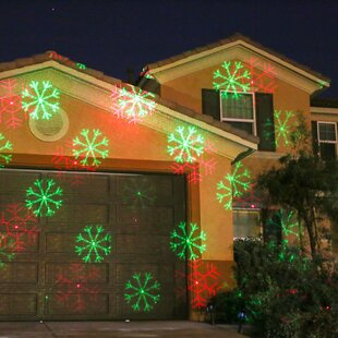 2 light snowflake laser projector light - Laser Lights Christmas Decorations