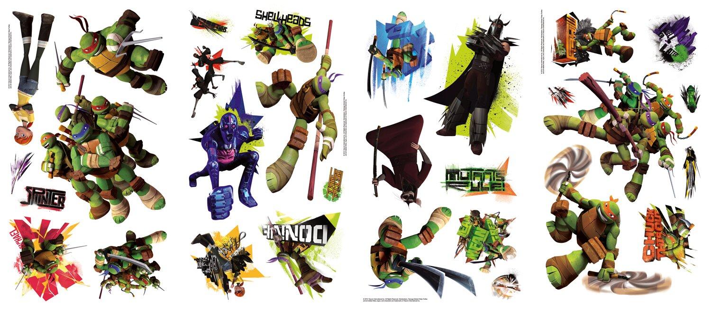 Room Mates Peel And Stick Teenage Mutant Ninja Turtles Wall Decal - Ninja turtle wall decals