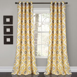 castleton room darkening ikat sheer grommet curtain panels set of 2