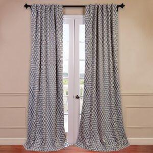Casablanca Geometric Blackout Thermal Rod Pocket Single Curtain Panel