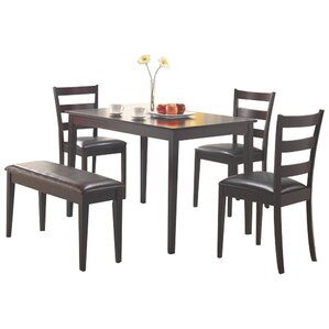 Harting 5 Piece Dining Set by Red Barr..