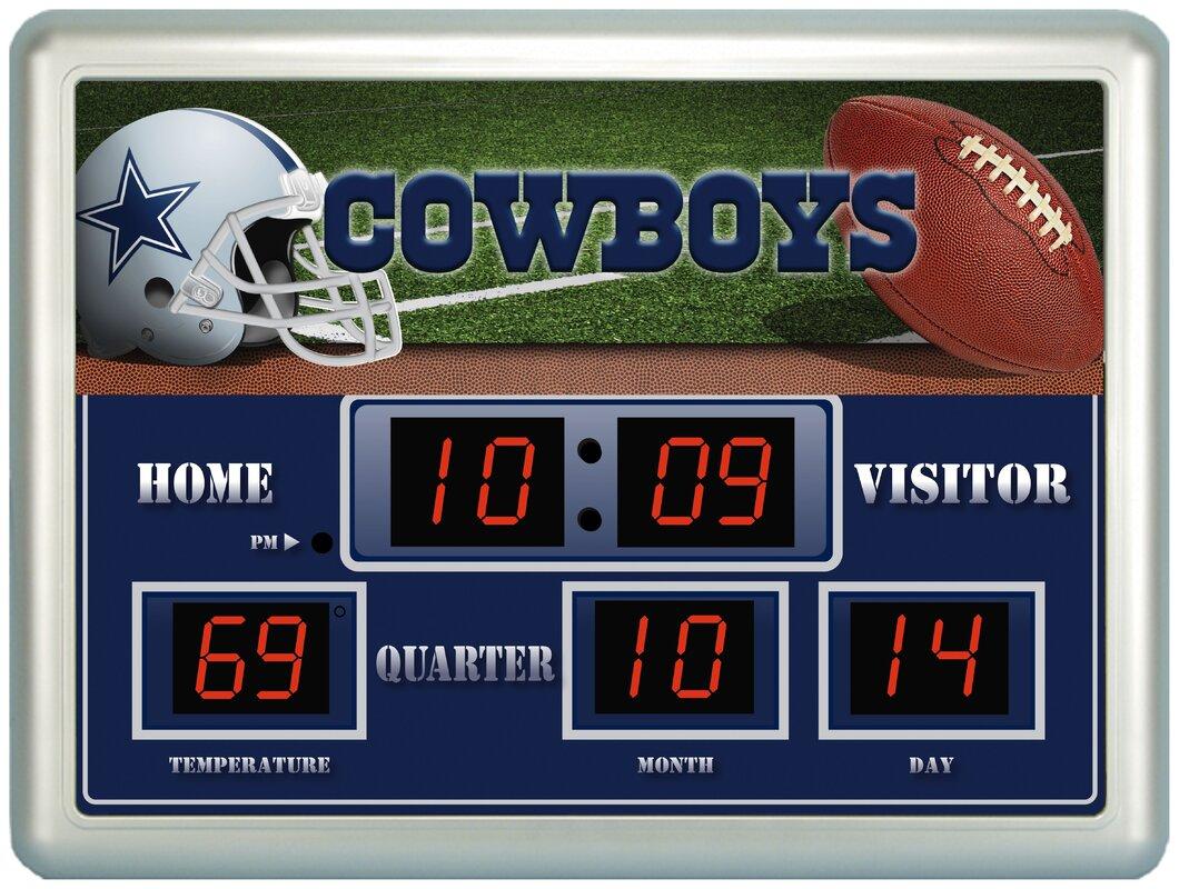 Team sports america nfl scoreboard wall clock reviews wayfair nfl scoreboard wall clock amipublicfo Gallery