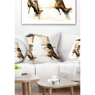 Abstract High Heel Shoes Pillow