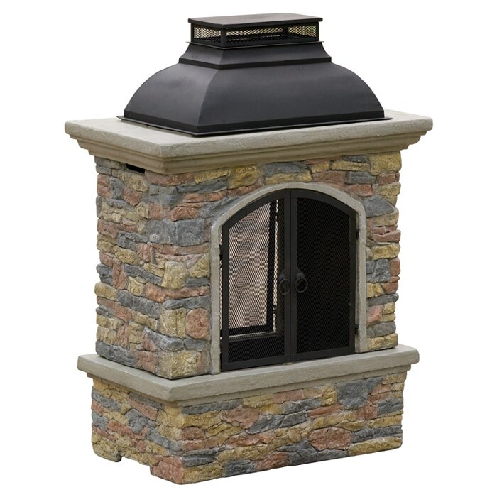 Fresno Cement Wood Burning Outdoor Fireplace