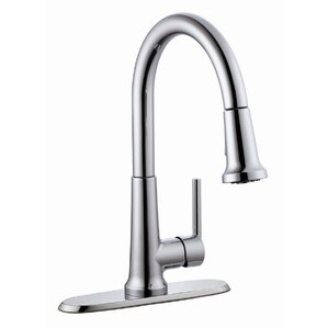 Design House Geneva Single Handle Kitchen Faucet with Pullout Sprayer