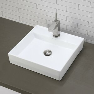 Classically Redefined Ceramic Square Vessel Bathroom Sink