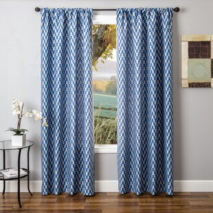 Chae Chevron Single Curtain Panel