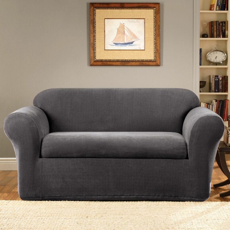 Sure Fit Stretch Metro Box Cushion Loveseat Slipcover Reviews