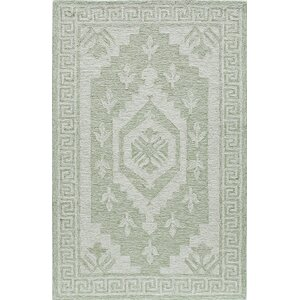 Hand-Tufted Winter Green Area Rug
