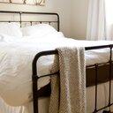 Echelon Home Washed Belgian Linen 3 Piece Duvet Cover Set