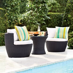 3 piece outdoor dining set rectangle table collingswood piece person seating group with cushions bar height outdoor furniture wayfair