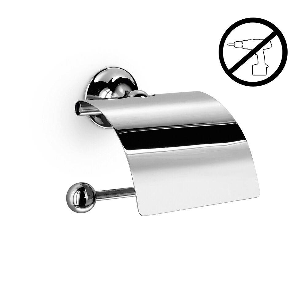WS Bath Collections Venessia Self-Adhesive Toilet Paper Holder with ...