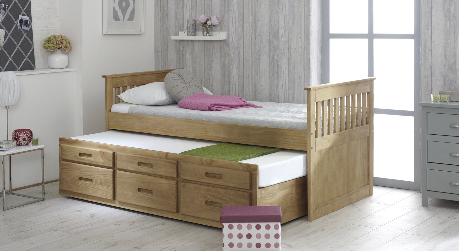 Just Kids Captains Single Cabin Bed with Trundle and ...