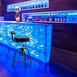 Maplecrest Adjustable Height Swivel Bar Stool