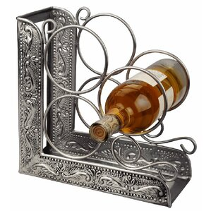 Victoria Embossed 3 Bottle Tabletop Wine Bottle Rack by Old Dutch International