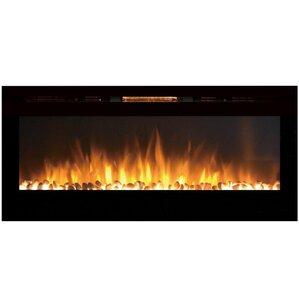 DeMotte Wall Mount Metal Electric Fireplace