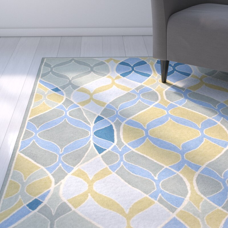 Ebern Designs Demetra Blue Multi Rug Reviews Wayfair - Demetra ceramic tile