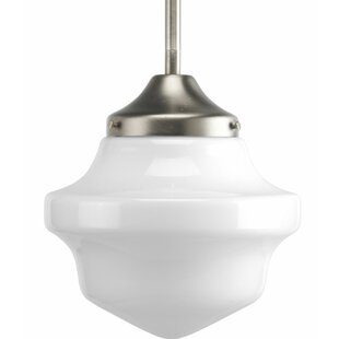 Modern schoolhouse pendant lighting allmodern barbera 1 light mini school house schoolhouse pendant aloadofball