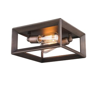 Coxsackie 2-Light Metal Flush Mount