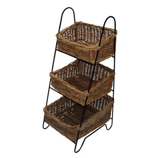 Vegetable Rattan 4 Piece Basket Set