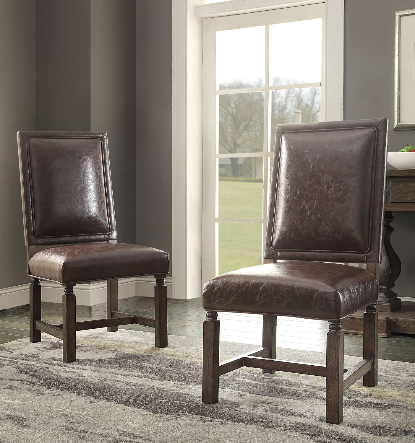 Hazelwood home distressed upholstered dining chair wayfair