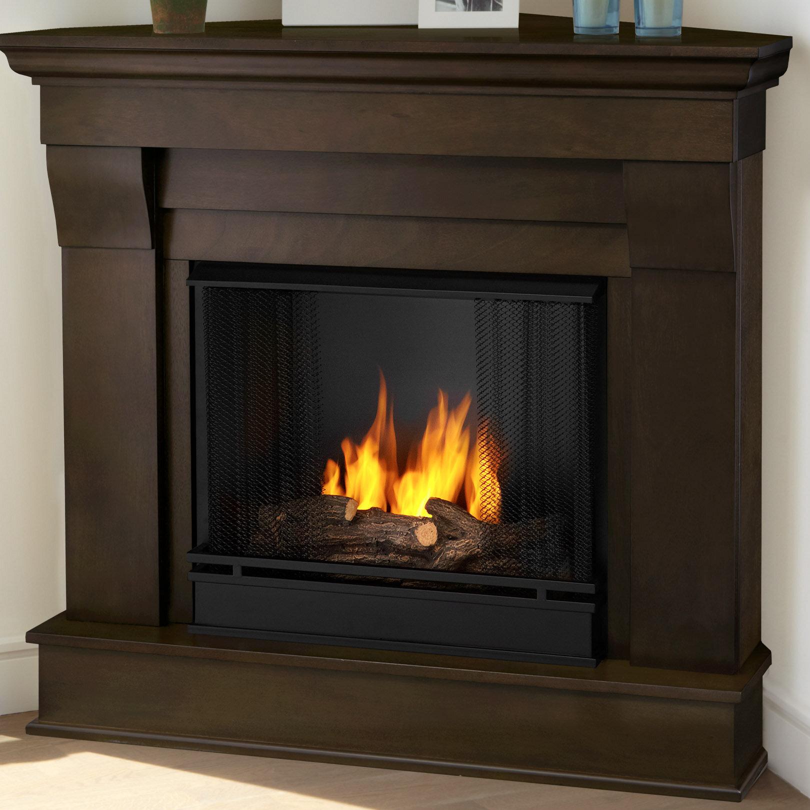 Real flame chateau corner gel fuel fireplace reviews wayfair solutioingenieria Gallery