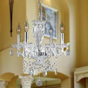 Doggett 4-Light Crystal Chandelier