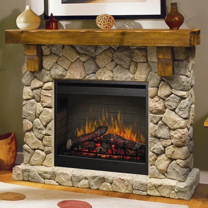 Dimplex Fieldstone Electric Fireplace  Reviews Wayfair - Dimplex electric fireplaces