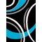 Havanna Black/Turquoise Area Rug