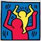 'Untitled 1987' by Haring Graphic Print Poster