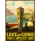 Lake of Como Travel Vintage Advertisement Wrapped on Canvas