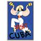 'Visit Cuba' Framed Vintage Advertisement on Wrapped Canvas