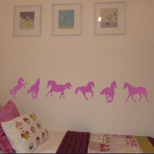 6 Piece Horse Wall Sticker Set