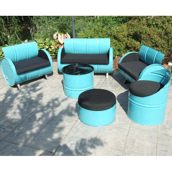 Drum Works Furniture Tucson Indoor/Outdoor Garden Patio 6 Piece Seating  Group With Cushion | Wayfair  Indoor Patio Furniture
