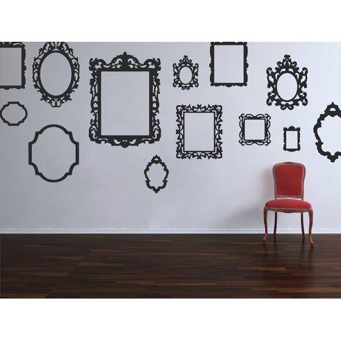 The Decal Guru Antique Picture Frames Wall Decal   Wayfair