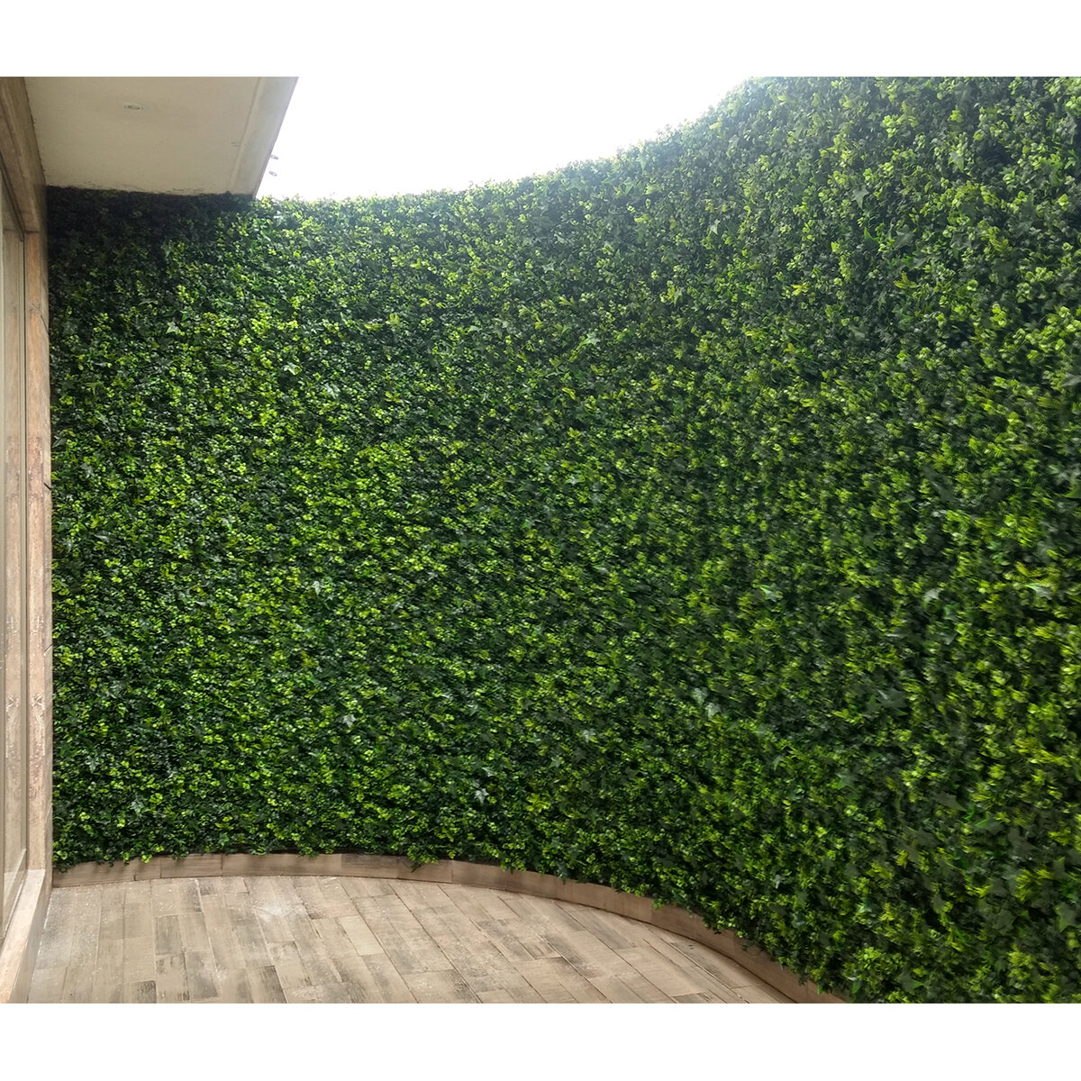 W Artificial Moss Fence Panel