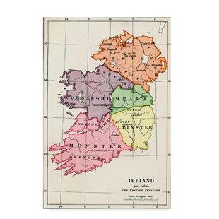 Print Map Of Ireland.Map Of Ireland Wayfair