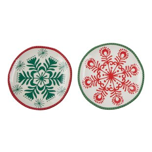 Snowflake Bread and Butter Plate Set  sc 1 st  Wayfair & Snowflake Dishes | Wayfair