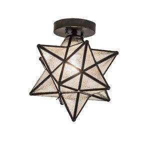 Moravian Star 1-Light Flush Mount