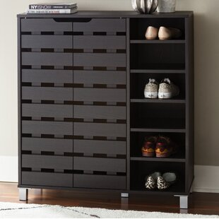 24 Pair Shoe Storage Cabinet By Zipcode Design