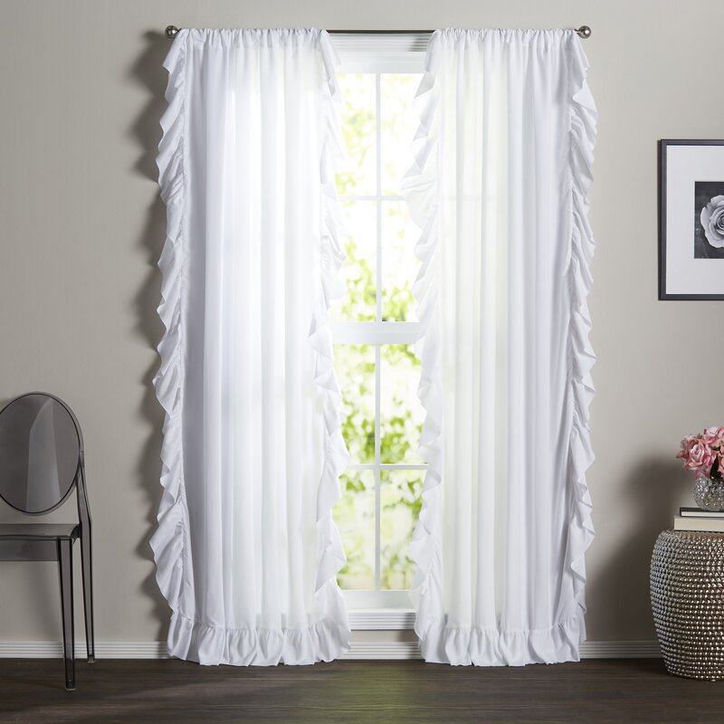 Eton Solid Room Darkening Rod Pocket Curtain Panels