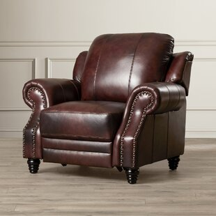 Superieur Wing Back Leather Recliner | Wayfair